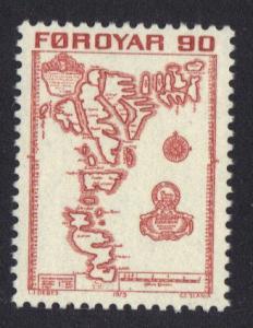 Faroe Islands  #13  1975 MNH definitives 90 ore