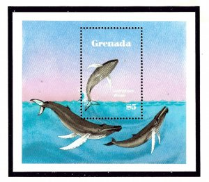 Grenada 1144 MNH 1982 Whales and Dolphins S/S    (KA)