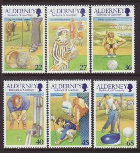 2001 Alderney Set U/Mint SGA169/A174