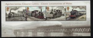 Great Britain Sc 3268 2014 Welsh Steam Engines stamp sheet mint NH