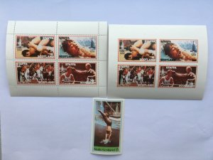 Staffa Scotland Island 1980 Summer Olympic,Mint  Imperforate Perforate