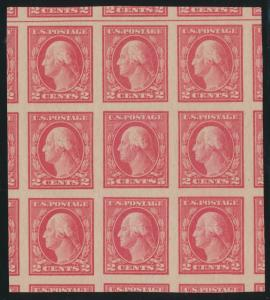 #485 MINT NH BLOCK OF 9 (2) PFCs - VLH OUTSIDE OF BLOCK SUPERB WLM5703