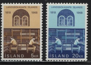 ICELAND, 400-401, MNH, 1968 Reading room national, library