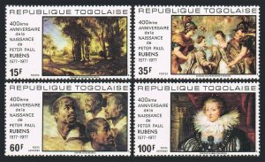 Togo 963-C325,C325a,MNH.Michel 1245-1248,Bl.119. Peter Paul Rubens,1977.Painting