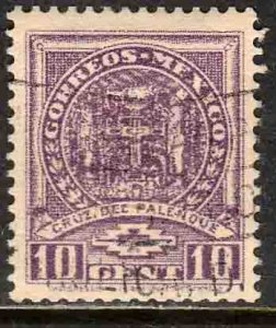 MEXICO 733, 10¢ PALENQUE CROSS. USED. F-VF. (593)