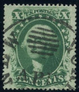 US Scott #35 Used; VF; NY Ocean Mail Cxl; PFC