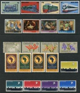 MALAWI Sc#87-90//122-126a 1968-69 Five Complete Sets & 3 S/S OG Mint Hinged