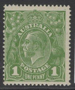 AUSTRALIA SG76 1924 1d SAGE GREEN MTD MINT