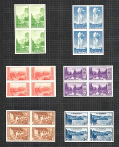756-765 & 771 Blocks of 4, NGAI,  Free Insured Shipping,
