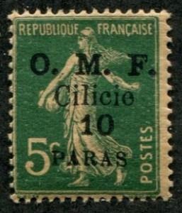 French Cilicia SC# 119 Issue of France o/p Surcharged MH