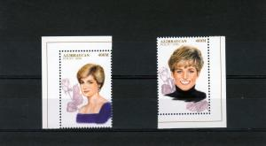 Azerbaijan 1998 PRINCESS DIANA set (2) Perforated Mint (NH)