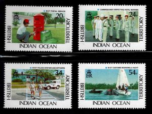 British Indian Ocean Territory BIOT Scott 111-114  MNH** Gov. Services  set
