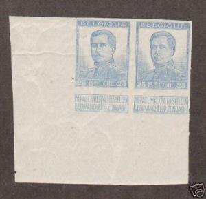 Belgium Sc 105a MNH. 1912 25c King Albert I TCP, XF