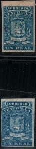 Venezuela 1859 SC 2 Mint, 5 included for Compasition SCV $450.00