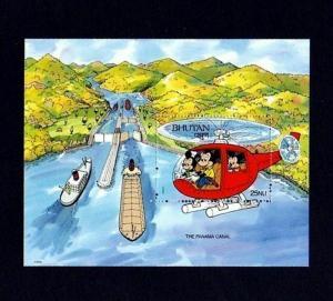 BHUTAN - 1991 - DISNEY - MICKEY - WONDERS - PANAMA CANAL - MINT - MNH S/SHEET!