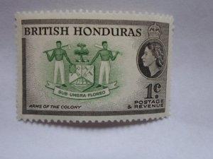 BRITISH HONDURAS STAMP MINT HINGE MARKS # 4