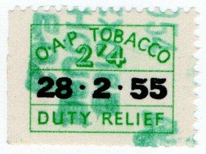 (I.B) Elizabeth II Revenue : Tobacco Duty Relief 2/4d (1955)