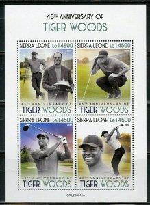 SIERRA LEONE 2020  45th ANNIVERSARY  OF TIGER WOODS  SHEET MINT NH
