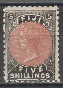 FIJI 1882 QV 5/- MNH **