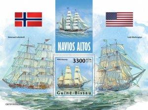 GUINEA BISSAU - 2019 - Tall Ships - Perf Souv Sheet - M N H