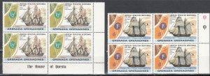 Grenada Grenadines, Sc 174-175, MNH, 1976, Schooner