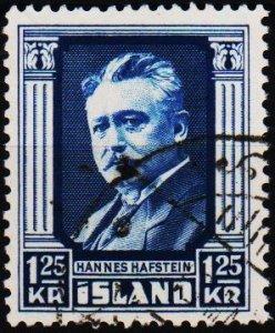 Iceland. 1954 1k25 S.G.325 Fine Used