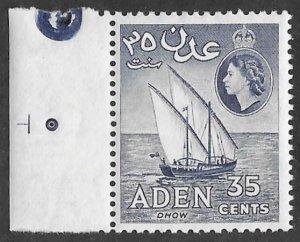 Aden # 70  Dhow   35c  New Watermark   (1)  VLH Unused