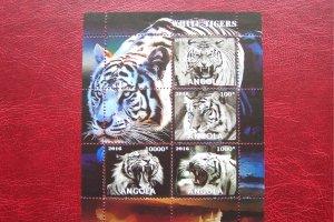 Angola 2016 MNH Fauna Animals White Tiger