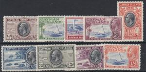 CAYMAN ISLANDS  1935   S G  96 - 104  VARIOUS VALUES  TO 1/-   MH