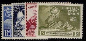 BECHUANALAND PROTECTORATE GVI SG138-141, anniversary of UPU set, NH MINT.