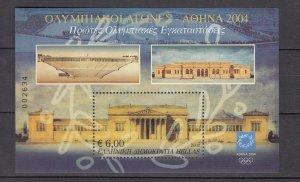 Z2853  jlstamps 2002 greece mnh s/s #2044 olympics