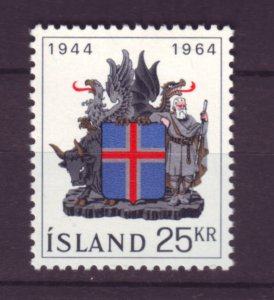 J22074 Jlstamps 1964 iceland set of 1 mh #362 arms