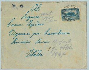 96738 - ARGENTINA - POSTAL HISTORY -  COVER from ALBAO, SF  to ITALY  1947