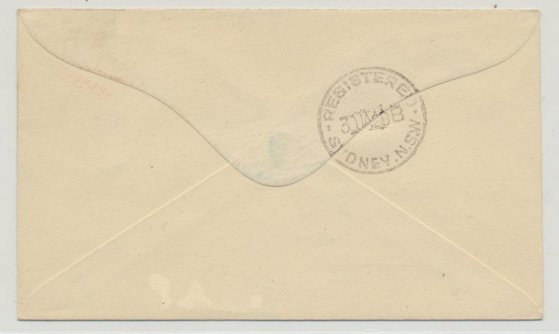 NAURU 1927 SCARCE REG COVER TO UK, 6d 9d & 1sh RATE (SEE BELOW)