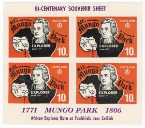 (I.B) Cinderella Collection : Scotland Label 10p (Mungo Park)