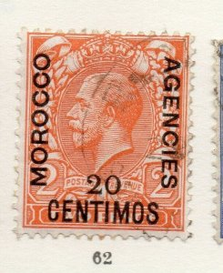 Morocco Agencies 1920s-30s Early Issue Fine Used 20c. Optd Surcharged NW-169072
