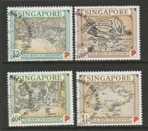 Singapore 1996 Old Maps FU SG 828/31