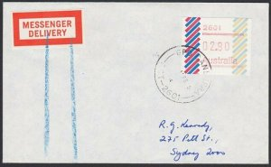 AUSTRALIA 1985 (15 Feb)  $2.80 Frama on Messenger Delivery cover Canberra...E198