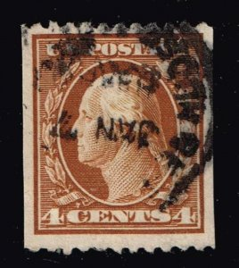 US STAMP #350 4c brown 1909 Coil Stamp Used stamp