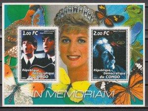 Congo Dem., 2001 Cinderella. Music & Science Personalities sheet of 2. ^