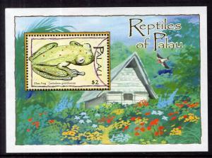 Palau 791 Frog Souvenir Sheet MNH VF