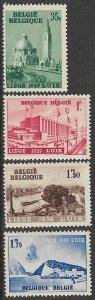 BELGIUM 1938 International Water Exhibition Set Sc 318-321 MNH