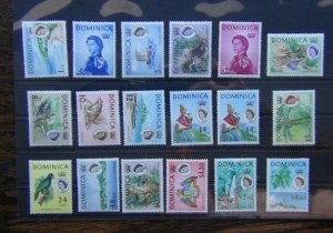 Dominica 1963 - 1965 set to $4.80 MM SG162 - SG178