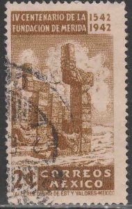 MEXICO 768, 2¢ 400th Anniv of Merida Maya Ruins Used.-VF. (709)