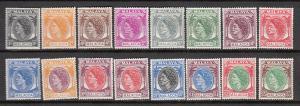 Malaya Malacca 1954 Sc 29-44 QEII MLH