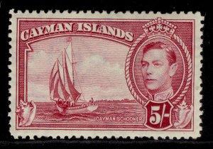 CAYMAN ISLANDS GVI SG125, 5s carmine Lake, M MINT. Cat £42.