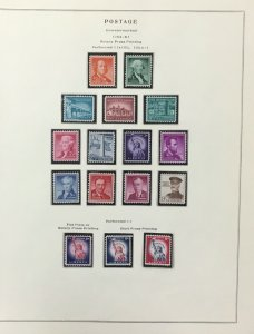 1954-1965 Liberty Series   MNH set with the coil line pairs   High value is MNH