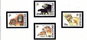 Singapore 645-48 MNH 1993 Wild Animals         (KA)