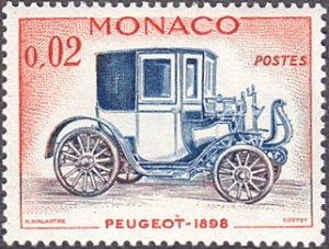 Monaco # 486 hinged ~ 2¢ Automobile