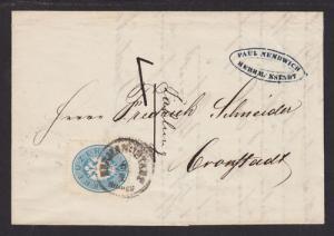 Austria Sc 20 on 1864 SFL, HERMANNSTADT to CRONSTADT
